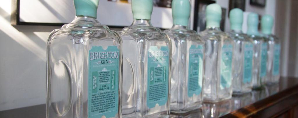 Brighton Gin bottles