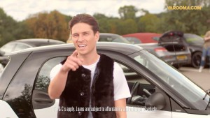 Car loan advertisement with Joey Essex